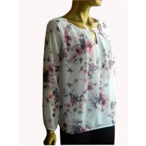 Bluza casual, din material lejer, cu imprimeu floral