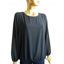 Bluza eleganta din voal de culoare neagra