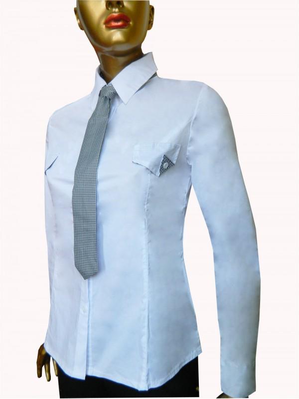 Camasa office eleganta culoare alba