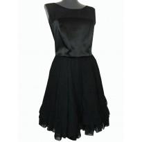 Rochie de seara neagra cu funda la spate