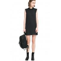 Rochie mini, din voal, de culoarea neagra