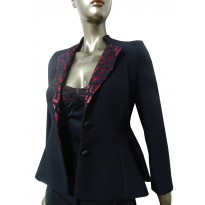 Sacou dama, casual, elegant, cambrat, cu design asimetric